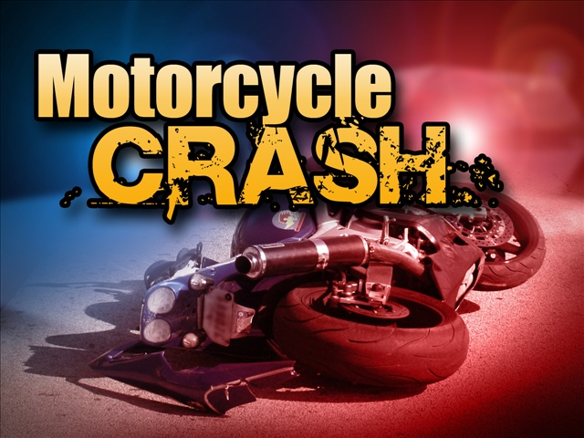 Graphic of a motorcycle crash
