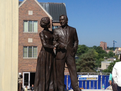 Henry and Marion Bloch sculpture