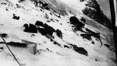 The jewels may be from the 1950 crash of an Air India flight that smashed into Mont Blanc during a storm, killing all 48 aboard. Photo courtesy: CNN