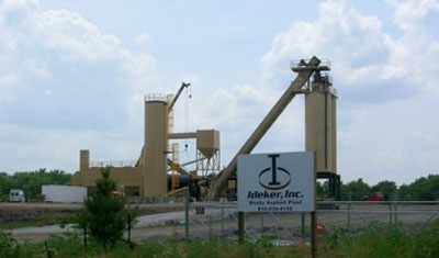 Ideker's south Kansas City asphalt plant. Photo courtesy: Ideker.