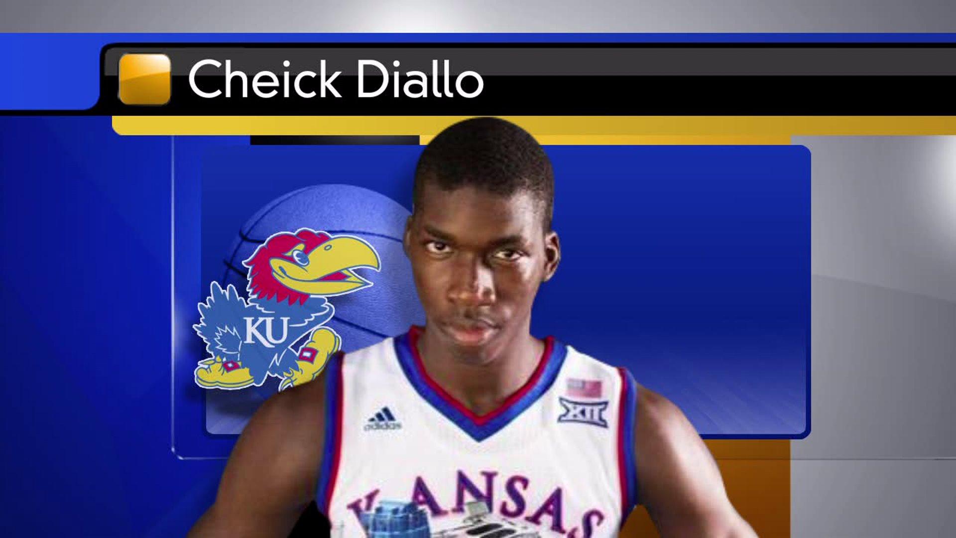 Cheick Diallo Kansas Jayhawks Basketball Jersey-Blue