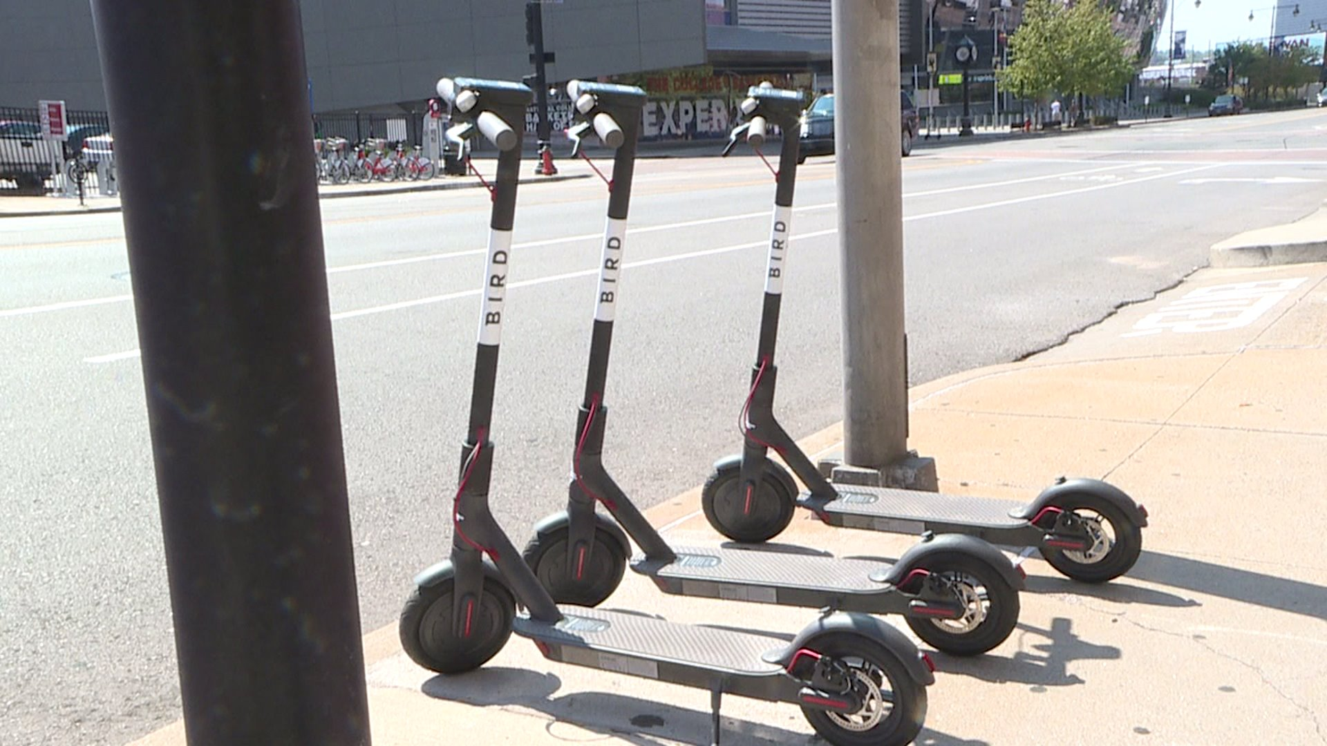 Picture of Bird scooters in Kansas City