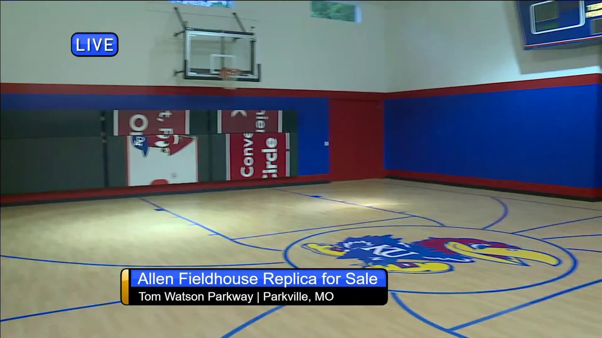 Local House With Replica Allen Fieldhouse Inside Goes Up For Sale Fox 4 Kansas City Wdaf Tv News Weather Sports