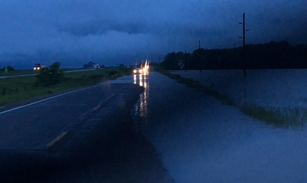 I-29 covered in flood water