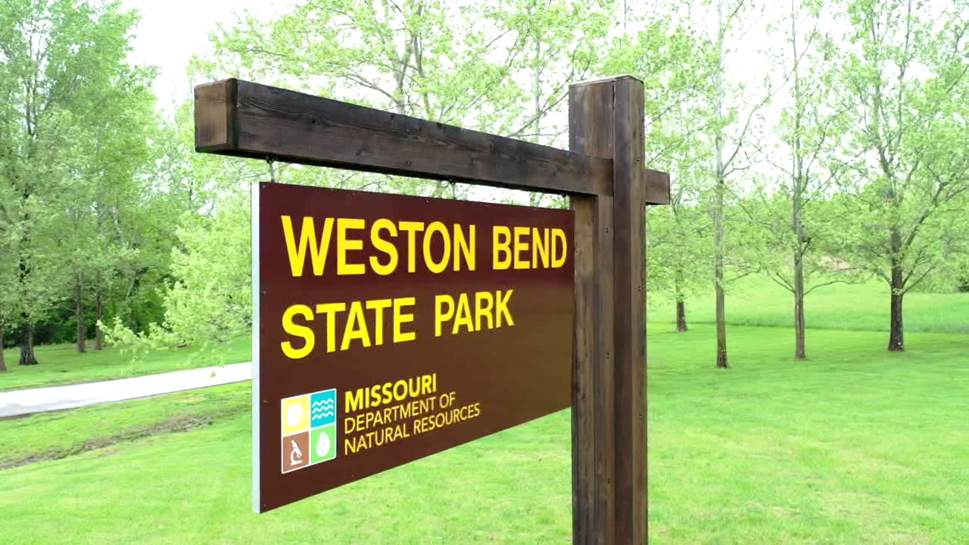 weston bend state park sign