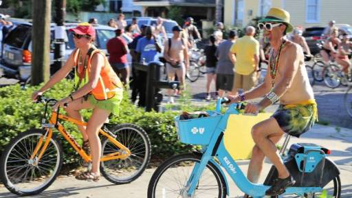 Naked Cyclists Use Public Rental Bikes For New Orleans