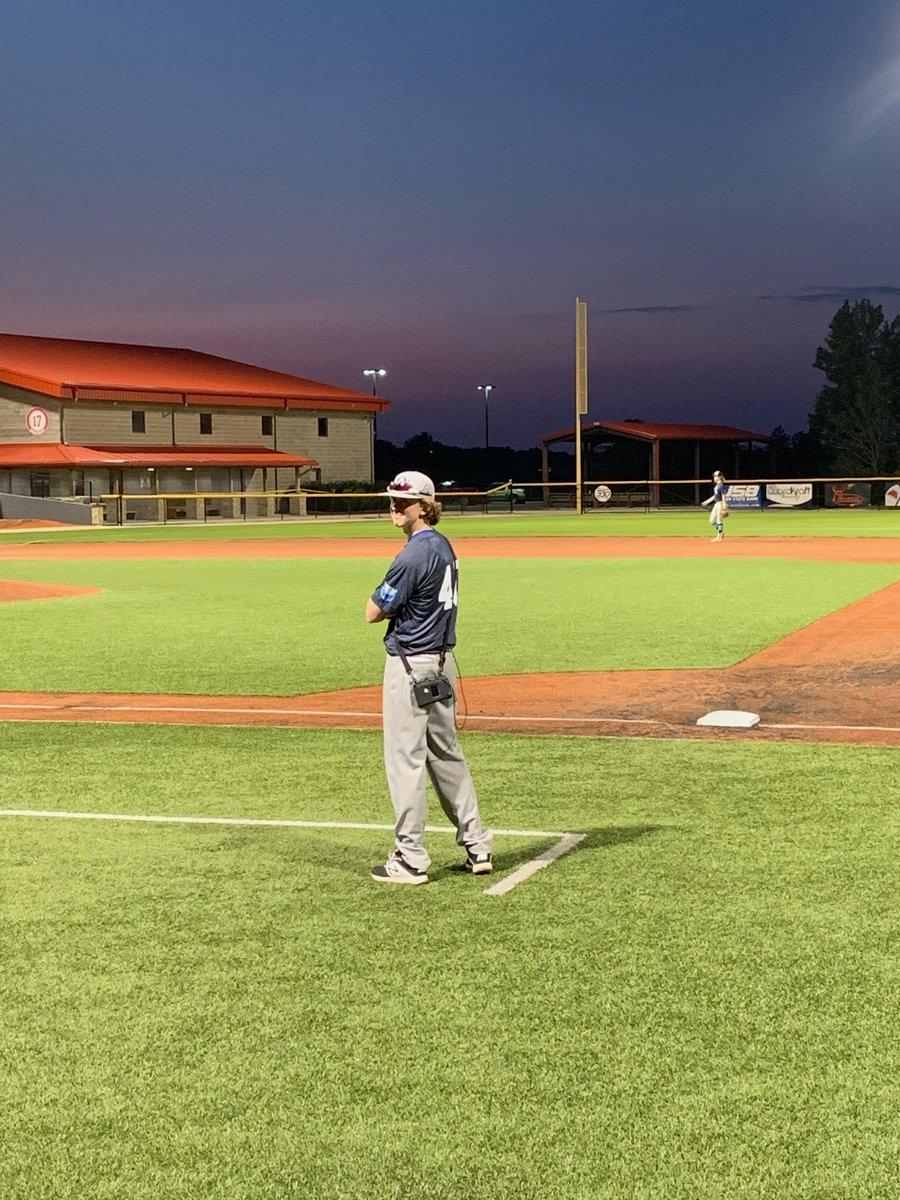 Brennan Connell back at the baseball diamond