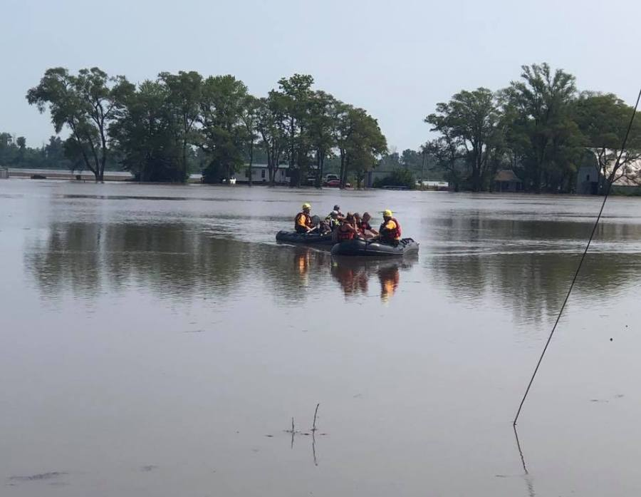 Levee breached in Jackson County