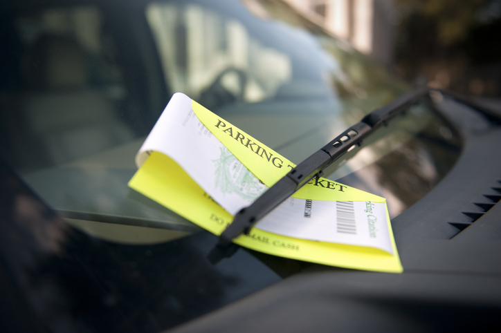 Picture of a parking ticket