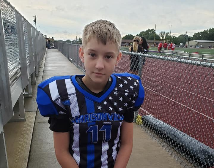 Harrisonville Youth Football thin blue line