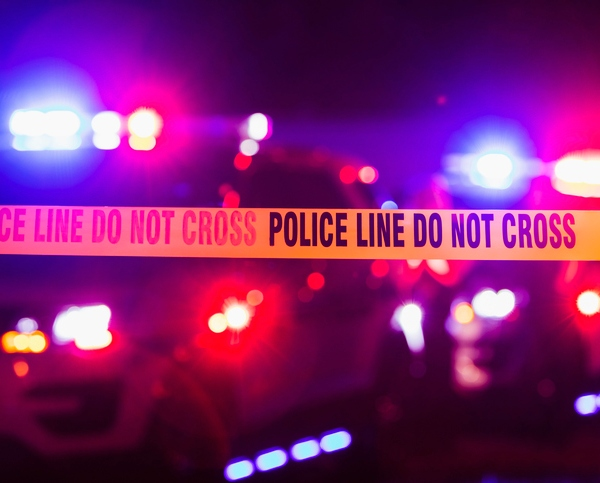 Accident or crime scene cordon tape