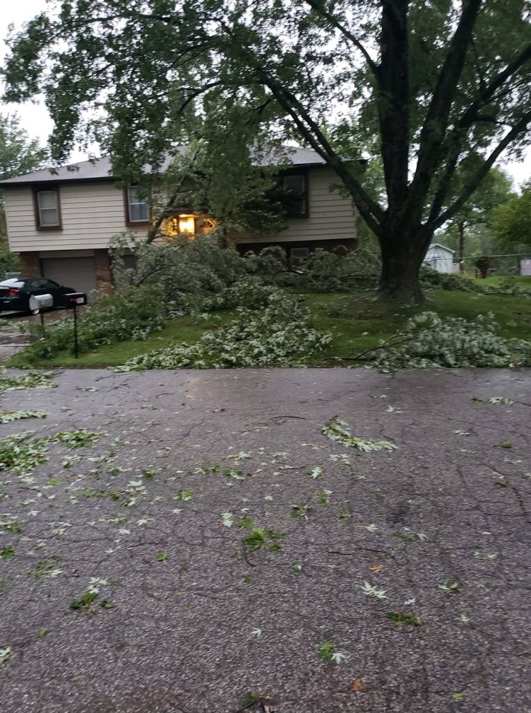 Picture of storm damage