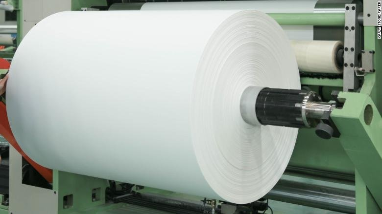 Picture of roll of stone paper