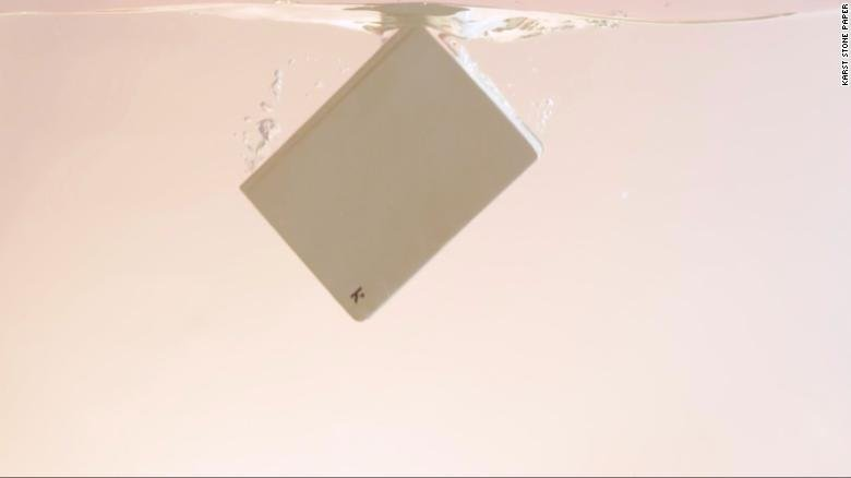 Picture of paper in water