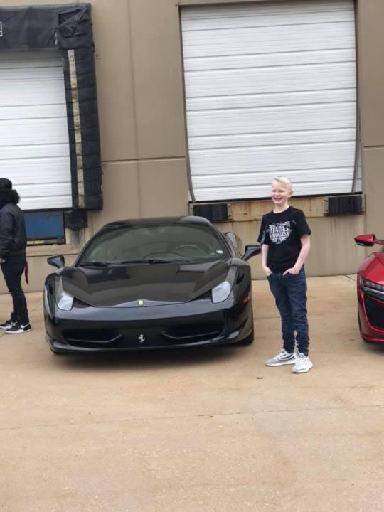 Alec Ingram with sports car