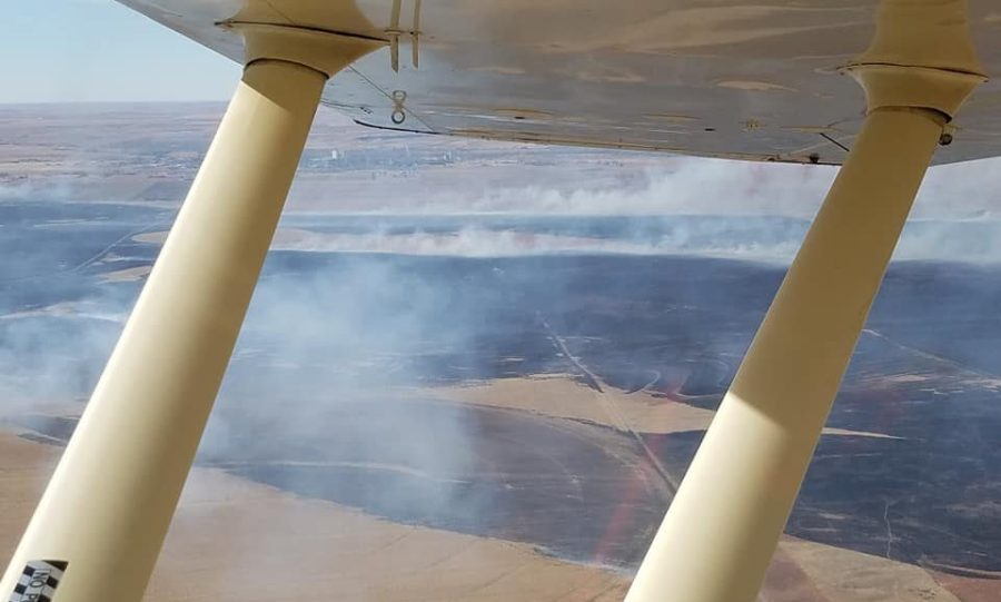 Picture of Grass fires in Kansas