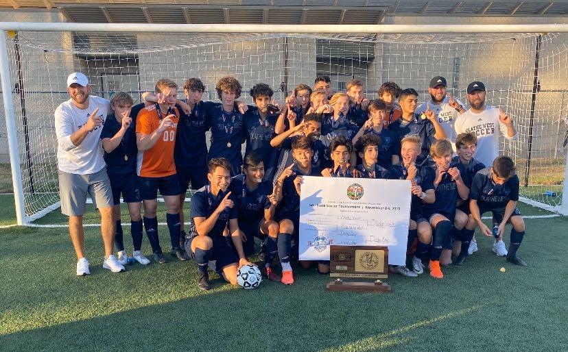 Olathe West Owls soccer championship