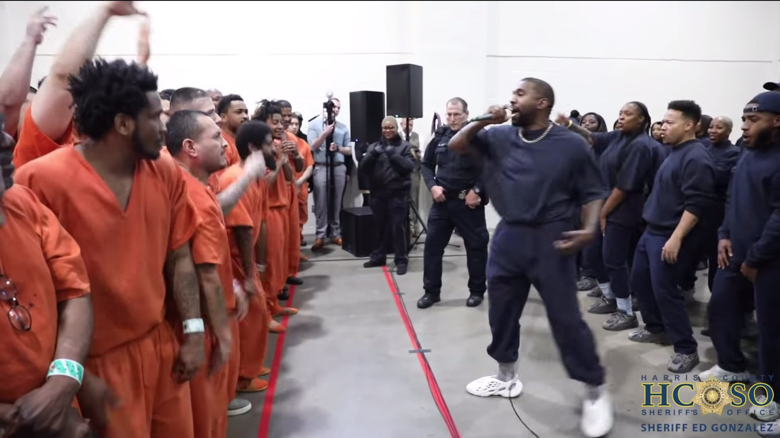 Kanye West jail picture