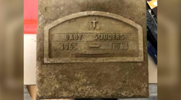 Miami county infant tombstone picture