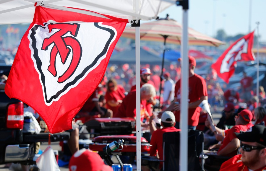 Picture of Chiefs tailgate party