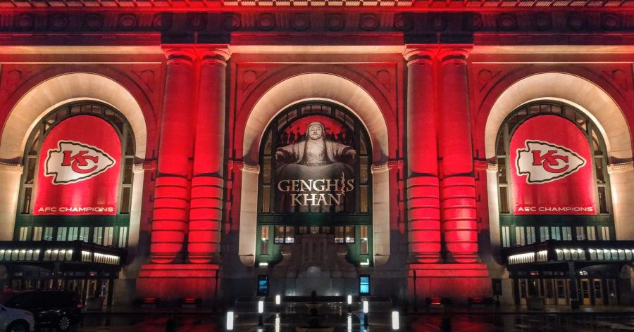 Chiefs decorations at Union Station picture