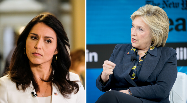 Tusli Gabbard and Hillary Clinton pictures