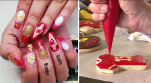 Pictures of Chiefs nails and cookies