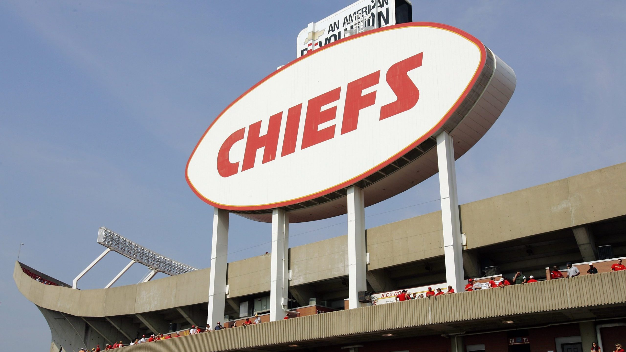 Picture of Chiefs sign on Arrowhead Stadium