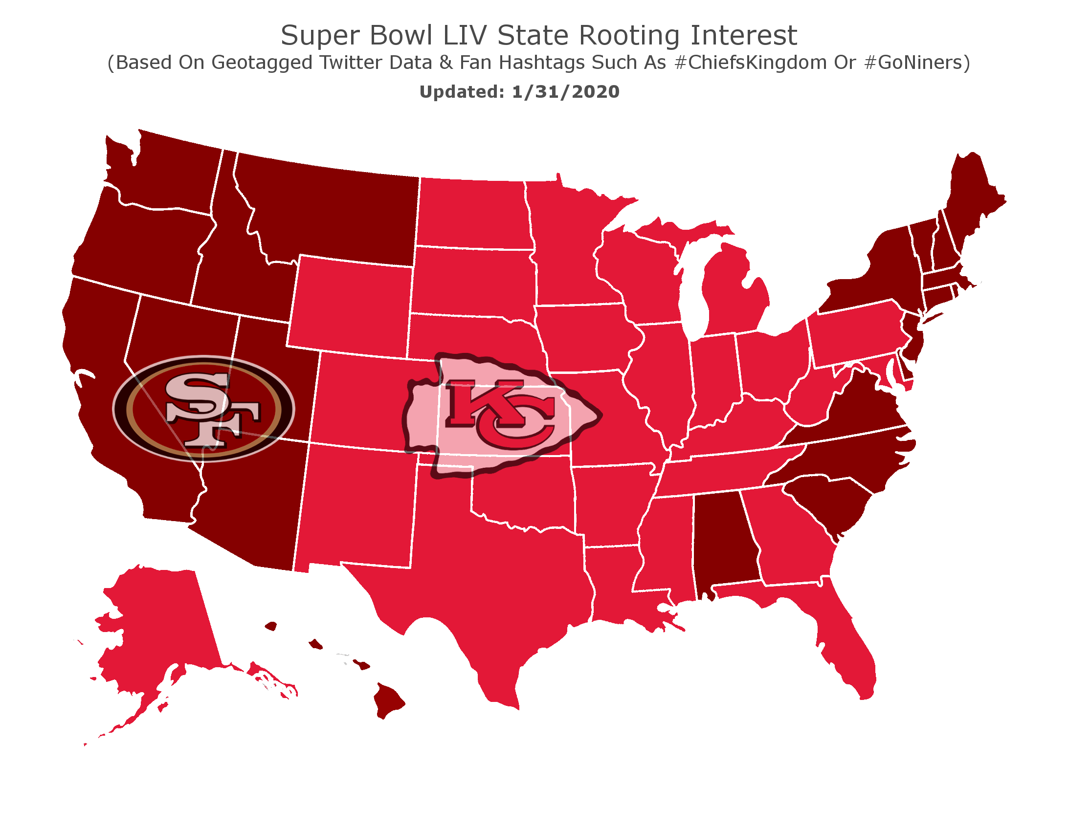 super bowl LIV map updated