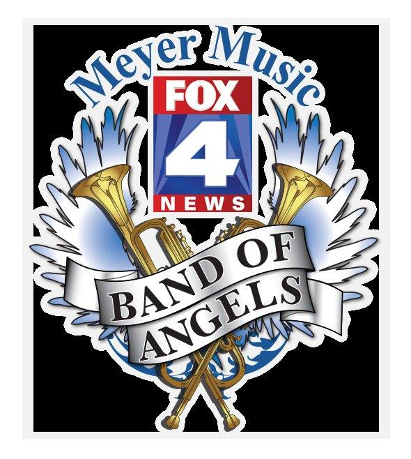 The Band of Angels is a partnership between FOX4 and Meyer Music. The goal is to collect music instruments and to help fund the purchase of musical instruments for use by children in need who want to study music.
