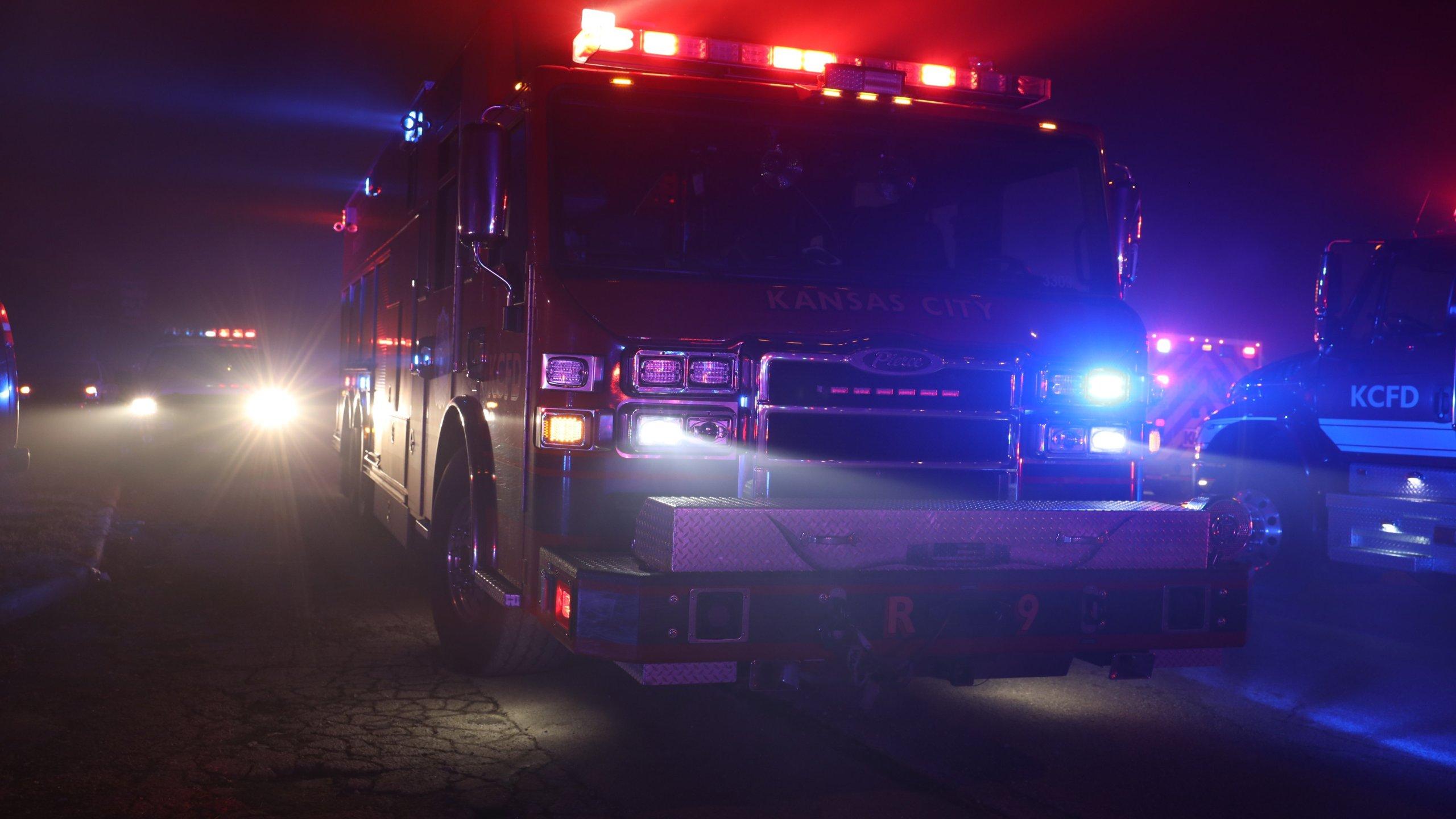 Firetruck in Kansas City, Missouri