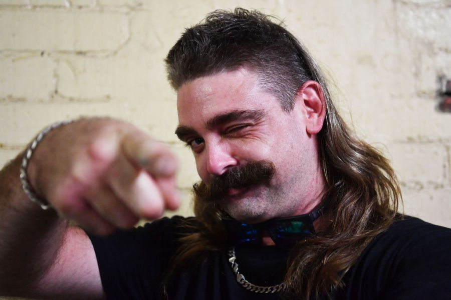 Picture of a man with a mullet