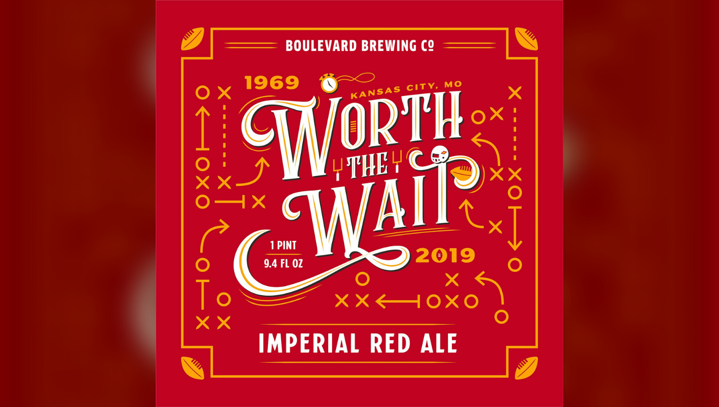 Boulevard's Worth The Wait Chiefs beer