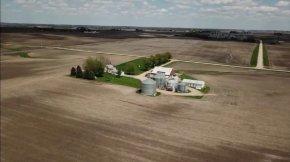 Drone picture of farm
