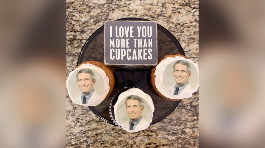Dr. Fauci cupcakes