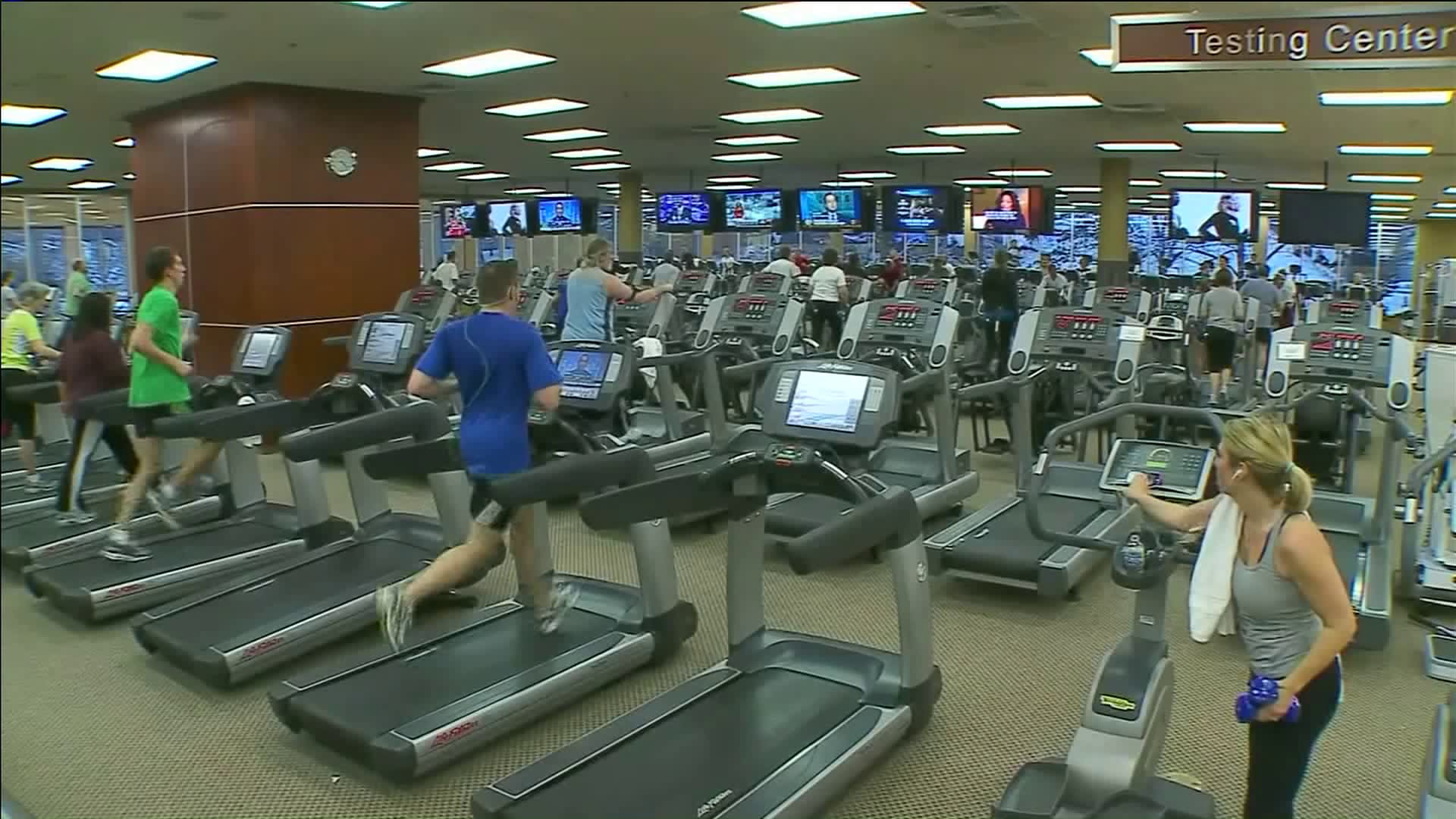 Picture of the inside of a fitness center
