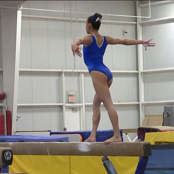 Picture of gymnast at Great American Gymnastics Express Center