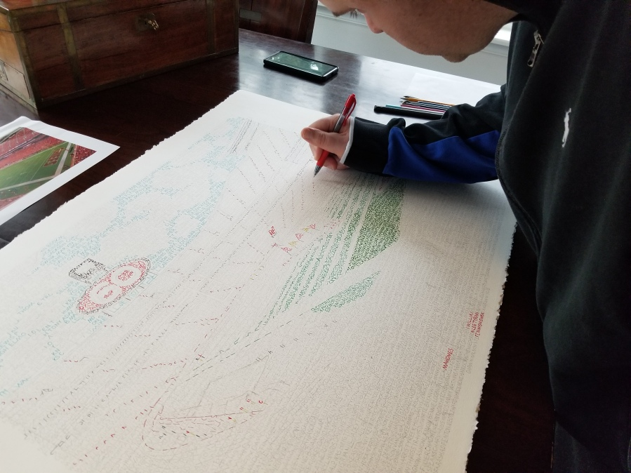 Picture of artist drawing