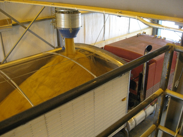 Picture of corn loading into a truck