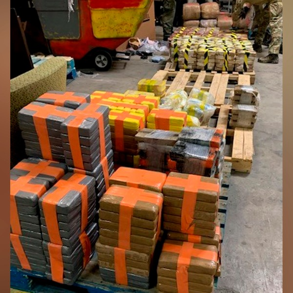 Picture of 4,400 pounds of seized drugs
