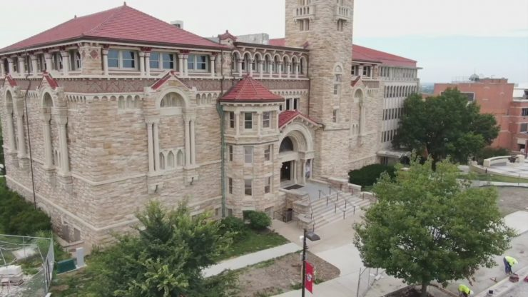 Picture of building at KU