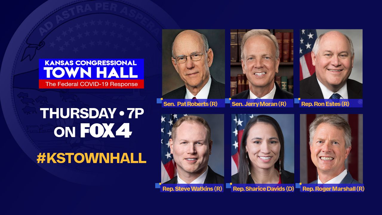Watch: State-wide Kansas Town Hall features all 6 federal lawmakers on response to COVID-19