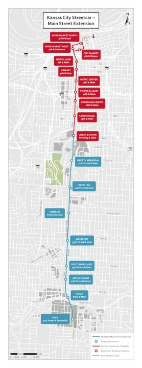 KC Streetcar Main Street Extension image