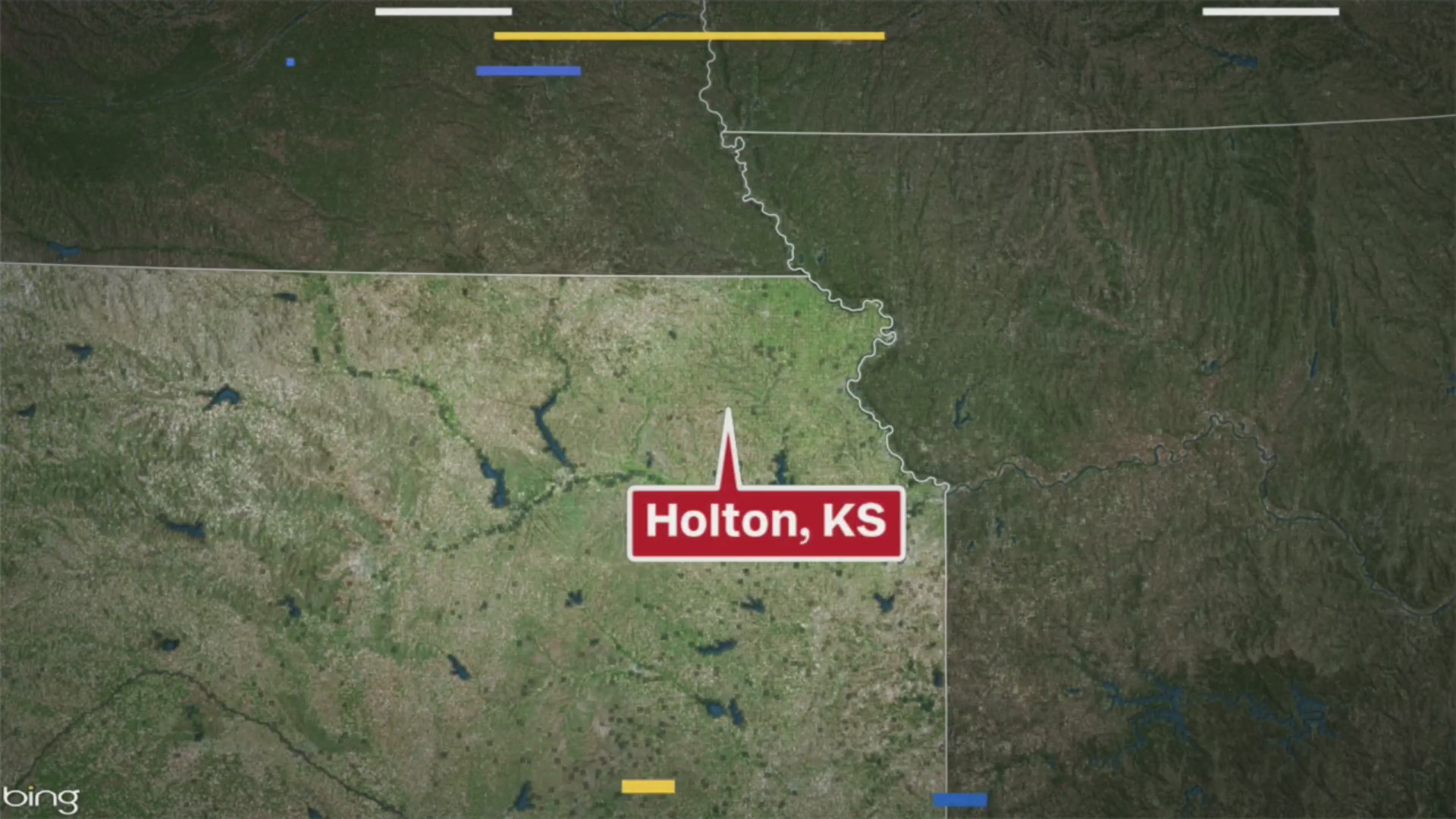 Picture of map with Holton, Kansas