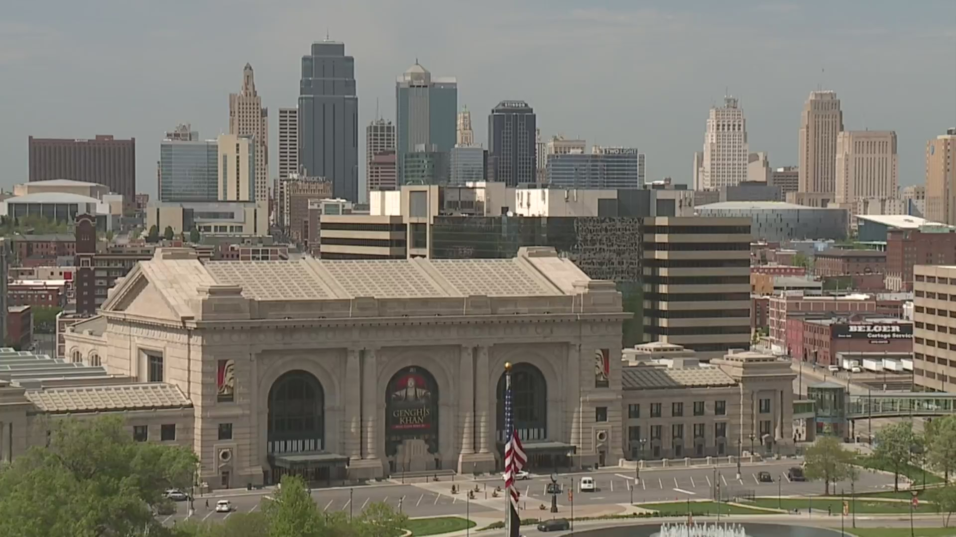 Picture of Union Station with skyline in background