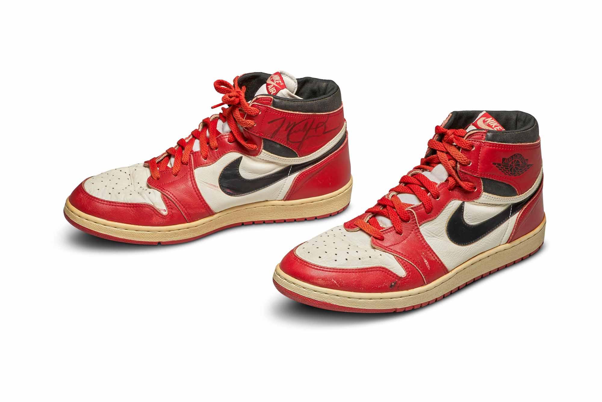 Michael Jordan's signature Air Jordan shoes from 1985 going up for ...