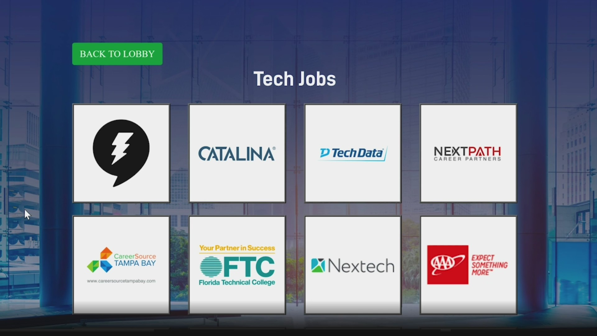 Tech jobs listing graphic