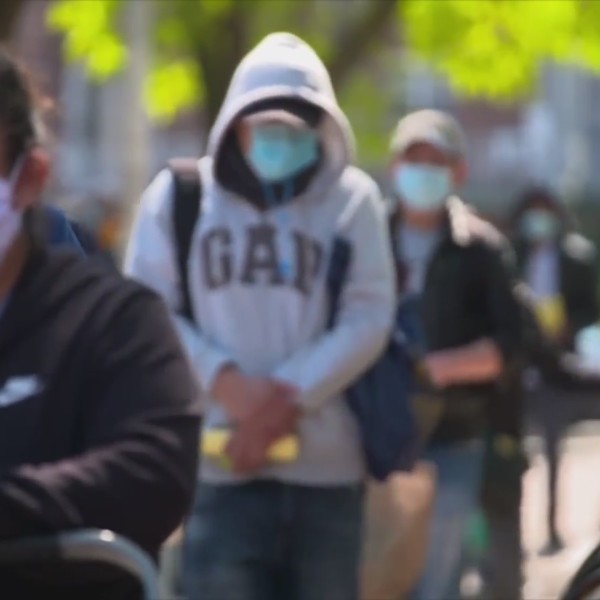 Picture of people wearing face masks