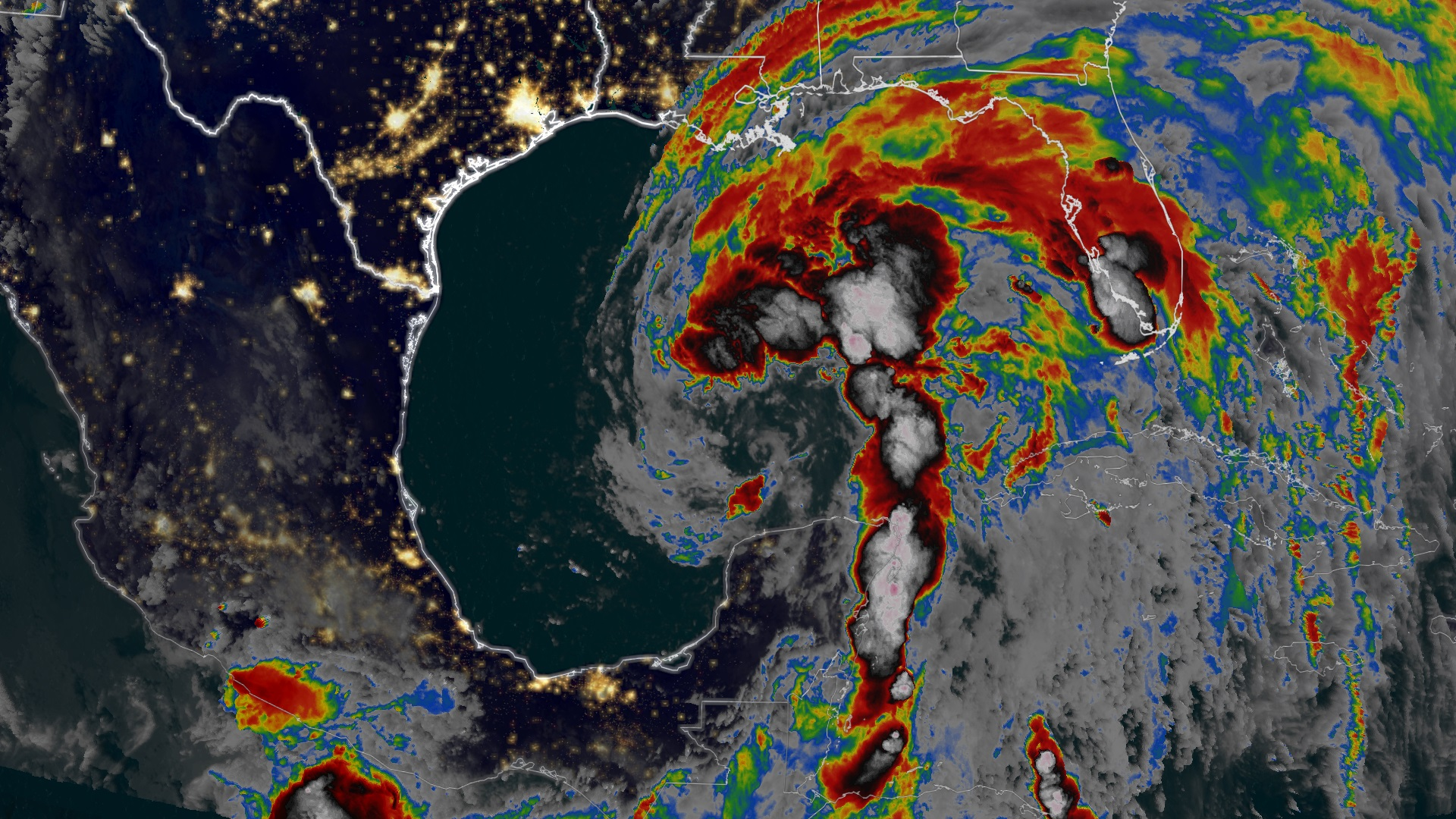 Weather map image of Tropical storm Cristobal