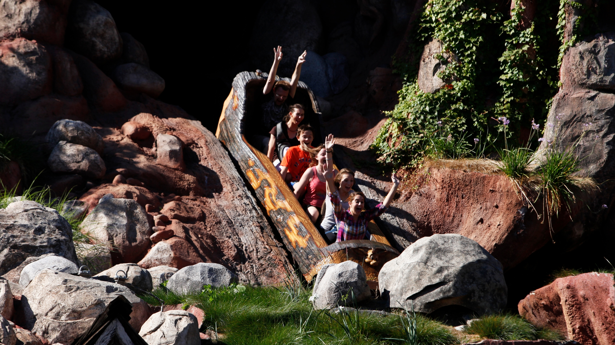 Picture of people on Splash Mountain
